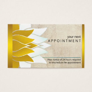 Lotus Flower Yoga Vintage Meditation Appointment Business Card