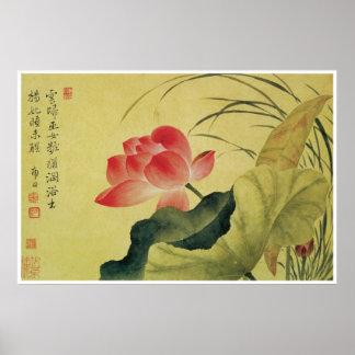 Lotus Flower, Yun Shouping Poster