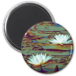 Lotus Flowers 2 Inch Round Magnet