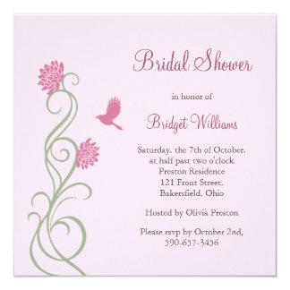 Lotus Flowers Bridal Shower (pink) Custom Invitation