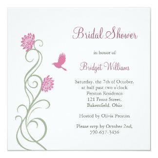 Lotus Flowers Bridal Shower (white) Invitation