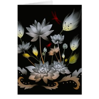 Lotus Flowers Card