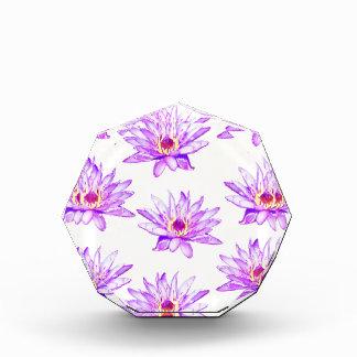 lotus flowers cream inky acrylic award
