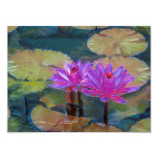Lotus Flowers in Bloom Art Photo