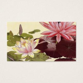 Lotus Flowers Profile Calling Card