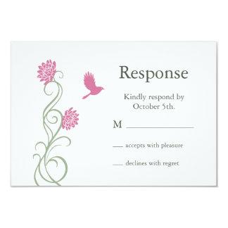 Lotus Flowers RSVP (white) Invitation