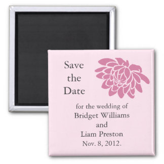 Lotus Flowers Save the Date Magnet (pink)