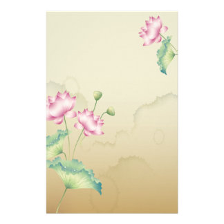 Lotus Flowers Stationary Stationery