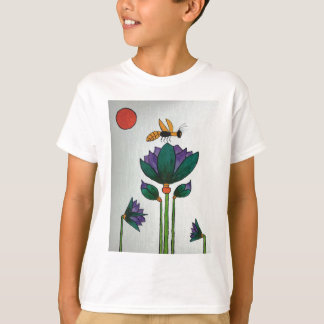 Lotus flowers with Bee T-Shirt