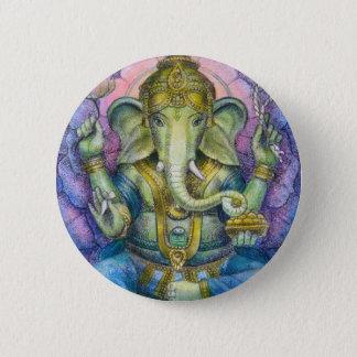 Lotus Ganesha Button