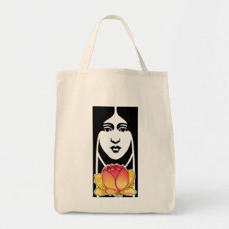 Lotus Girl Tote Bag