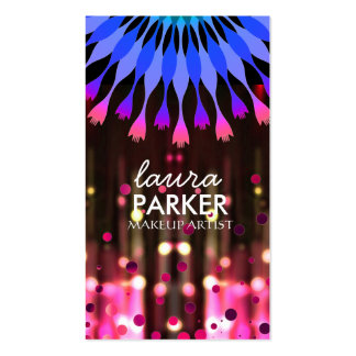 Lotus Glow Glitter Sparkle Makeup Artist Elegant Double-Sided Standard Business Cards (Pack Of 100)