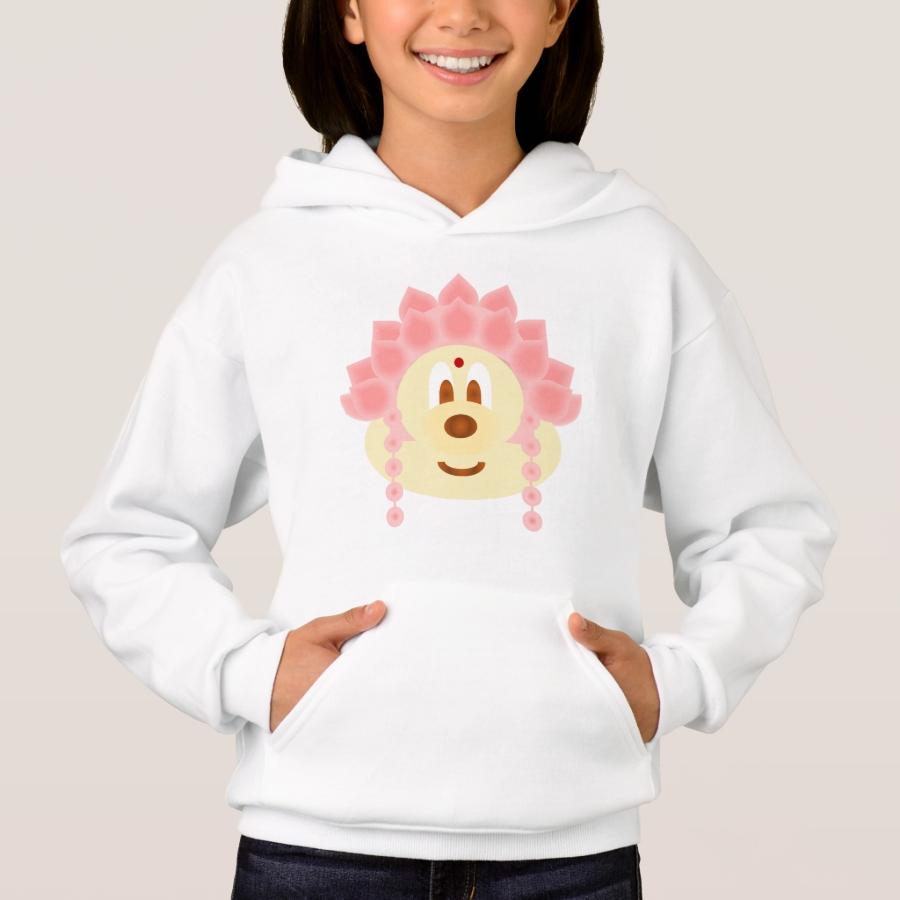 Lotus Goddess Hat 鲍 鲍  - Hoodie - Warm And Comfortable Kids Hooded Sweatshirt Designs