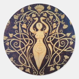 Lotus Goddess Round Stickers