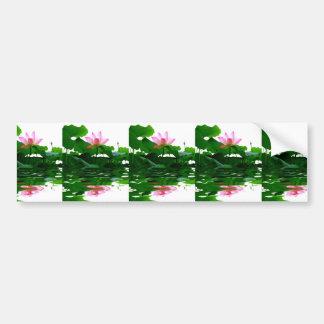 Lotus green water zen tranquility peace beautiful car bumper sticker