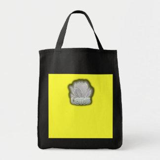 lotus grocery tote bag
