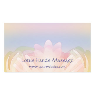 Lotus Hands Business Cards