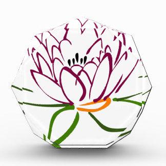 Lotus Heart Acrylic Award
