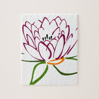 Lotus Heart Jigsaw Puzzle