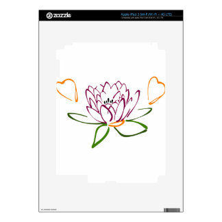 Lotus Heart Skin For iPad 3