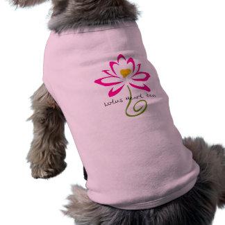 Lotus Heart Zen Dog Shirt