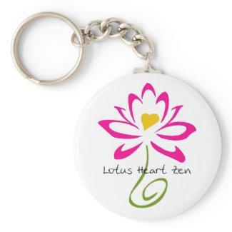 Lotus Heart Zen Keychain