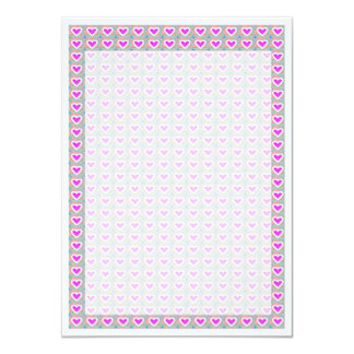 Lotus Hearts Template DIY buy BLANKS or add TXT 4.5x6.25 Paper Invitation Card