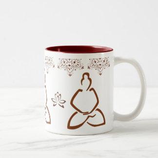 Lotus Henna Buddha Cup Two-Tone Coffee Mug