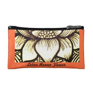 Lotus Henna Design Cosmetic Bag