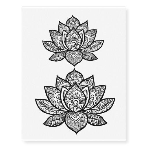 henna designs lotus. Black Bedroom Furniture Sets. Home Design Ideas