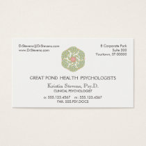 Lotus Holistic Natural Health Appointment Business Card