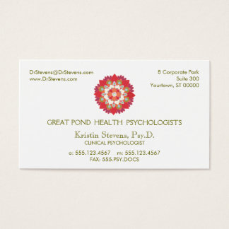 Lotus Holistic Natural Health Appointment Card