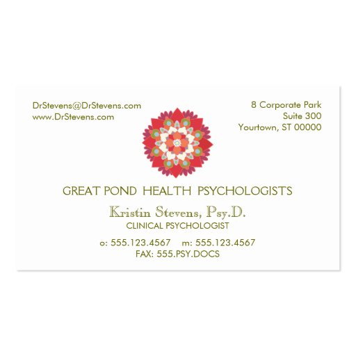 Lotus Holistic Natural Health Appointment Card Business Card Template