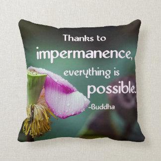 Lotus/Impermanence-Buddha Wisdom Quote Throw Pillows