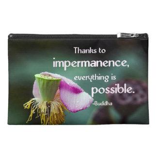 Lotus/Impermanence-Buddha Wisdom Quote Travel Accessory Bag