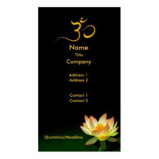 Lotus in bloom for meditative healers busines card