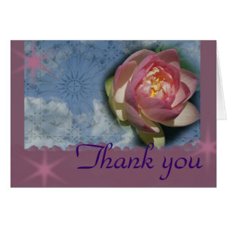"""Lotus in Clouds, """"Thank you"""" Greeting Cards"""