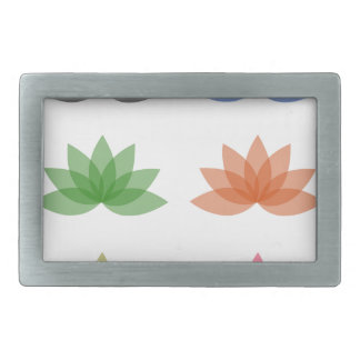 Lotus in different colors rectangular belt buckles