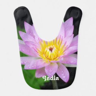 Lotus in India Baby Bib