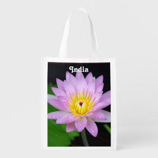 Lotus in India Grocery Bag
