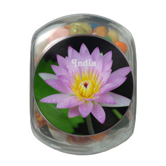 Lotus in India Jelly Belly Candy Jars