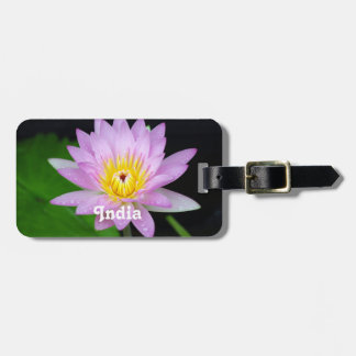 Lotus in India Luggage Tag