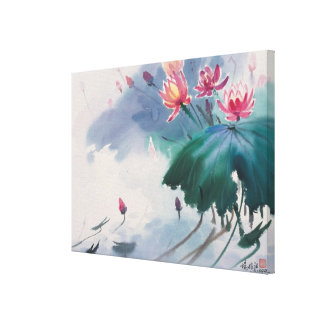 Lotus in the Pond Canvas Print