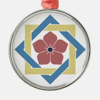 Lotus Kamon Metal Ornament