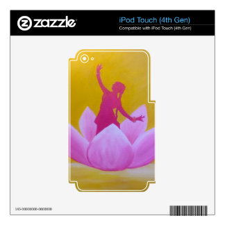 Lotus Kathak Dancer iPod Touch 4G Decals