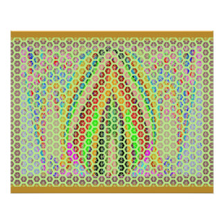 LOTUS Lamp Flame Deco -  Enjoy and Share the Joy Poster