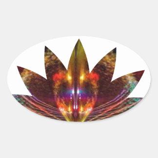 Lotus Leaf : Light Element Star Sparkle Oval Sticker