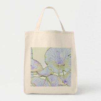 Lotus leaves grocery tote bag