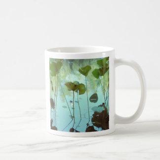 Lotus leaves coffee mug