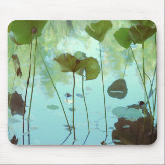 Lotus leaves mouse pad